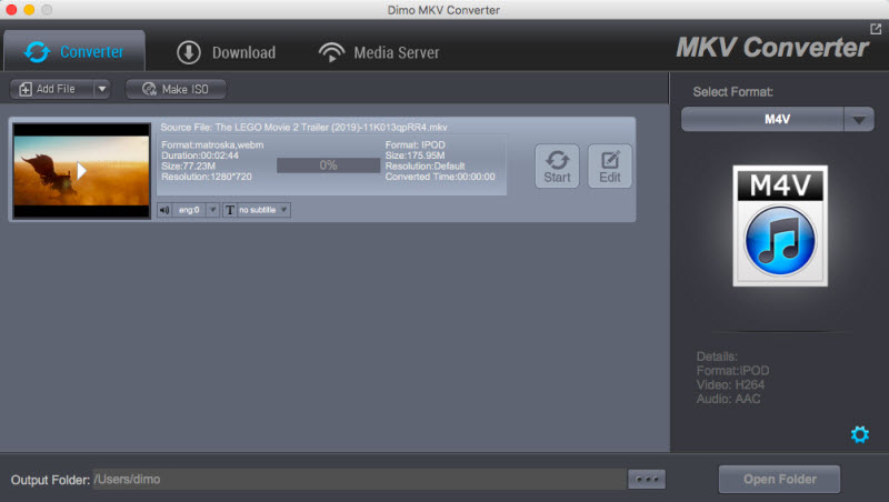 MKV Video Converter for Mac 4.3.0