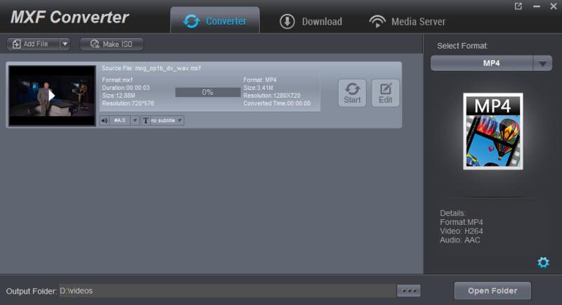 MXF Converter 4.1.0