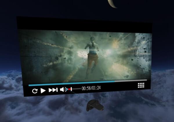 Play Video on Vive Cinema