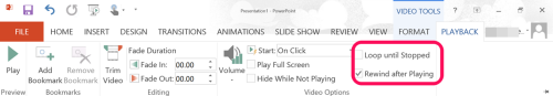playback option