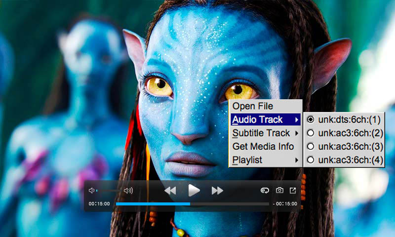 select subtitle or audio on Mac Blu-ray player