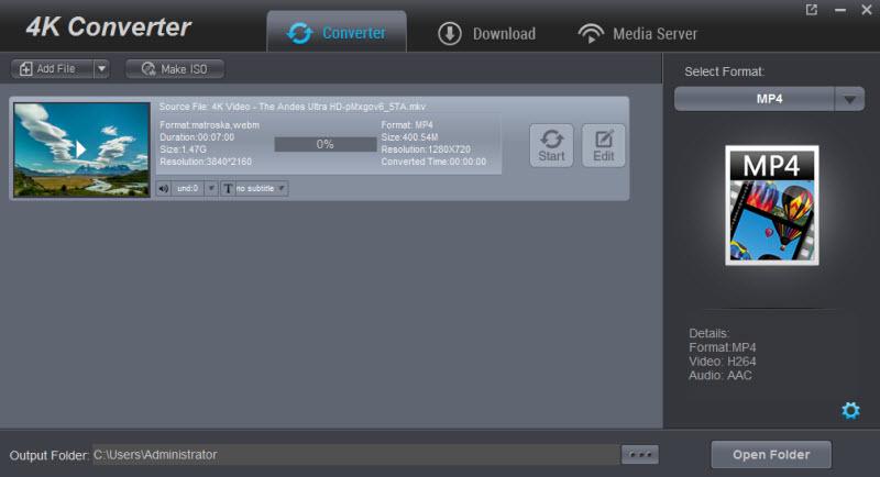 Converting 4K files