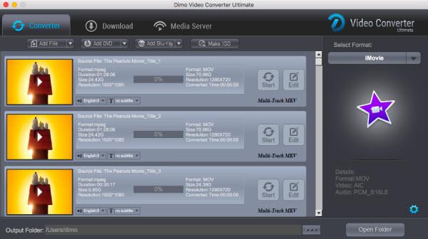 iMovie native format