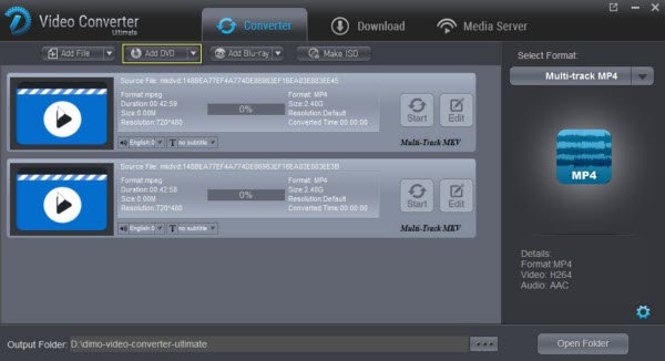 How to Rip DVD to MP4 with multiple audio tracks keeping