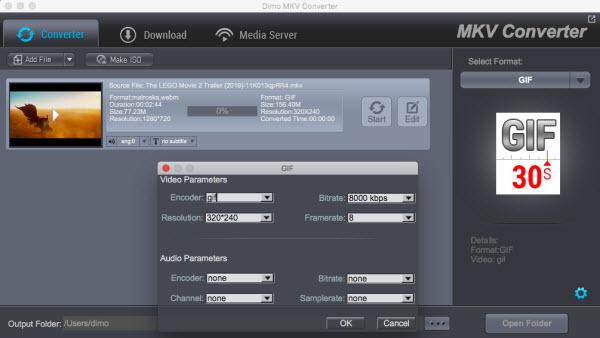 GIF settings