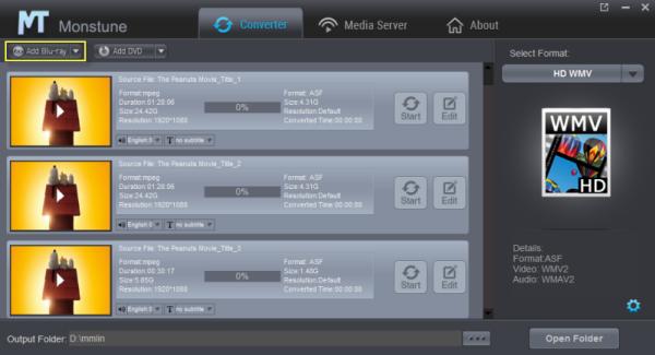 HD WMV video format