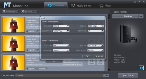 PS4 Pro video settings
