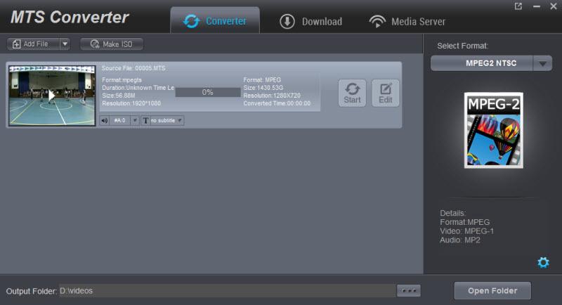 Converting MTS/M2TS/AVCHD files