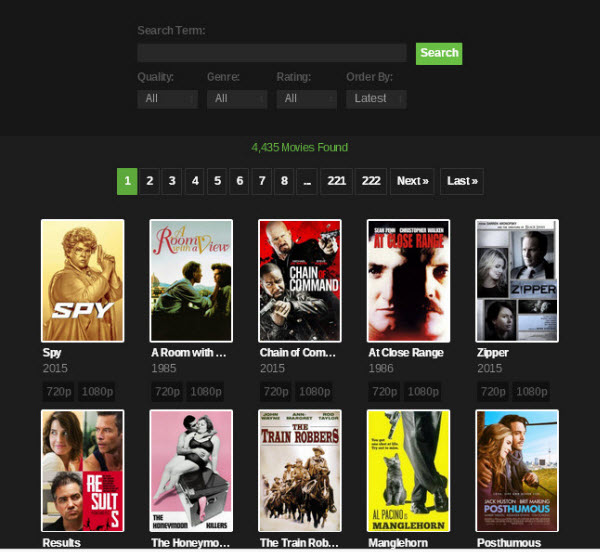 Search YIFY