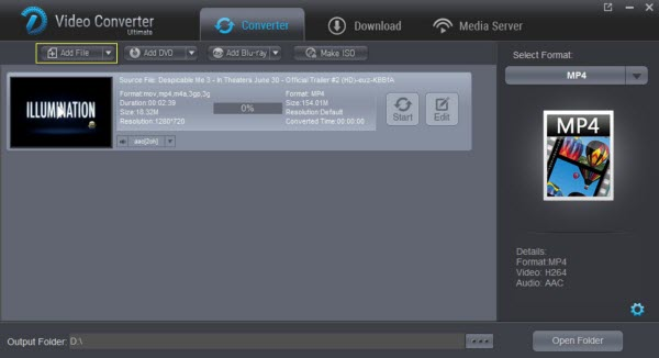 Dimo Video Converter Ultimate full screenshot