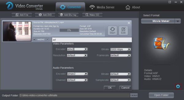 WMM supported format settings