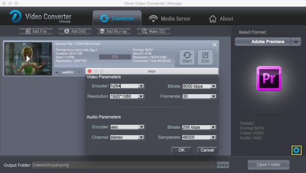 Premiere Pro video settings