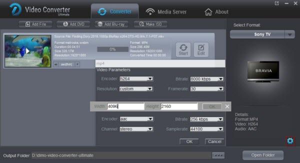 TV video settings