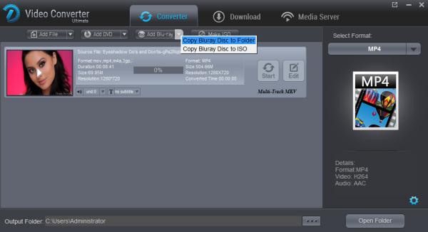 Copy Bluray Disc to Folder