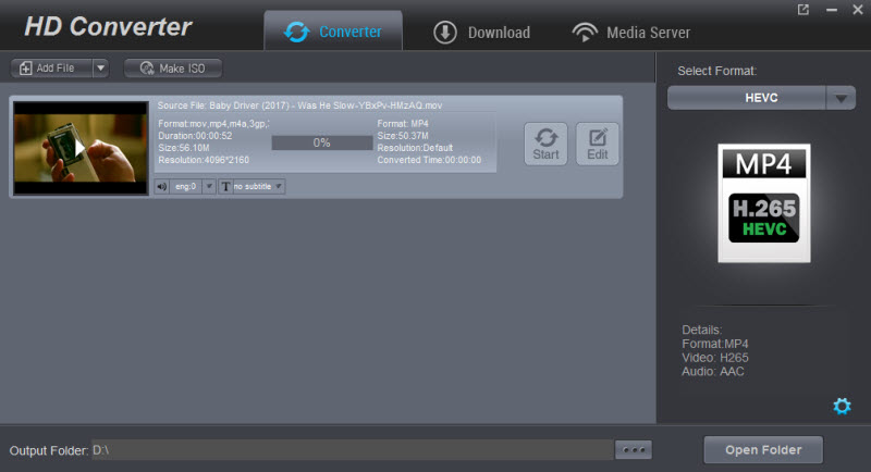 HD Video Converter full screenshot