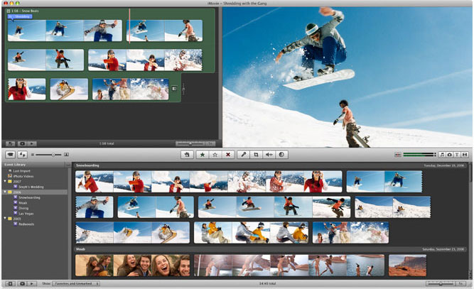 iMovie on Mac