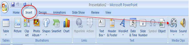 embed video to PowerPoint