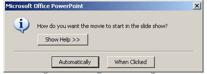 Set how to play the movie