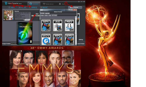play 68th emmy awards video