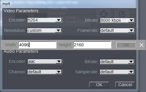 custom MP4 conversion settings to HyperSpin