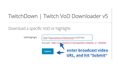 Twitch VOD downloader to download VODs from Twitch with Twitchdown
