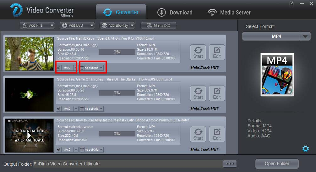 upgrade Dimo to version 3.0.1 with subtitle keeping