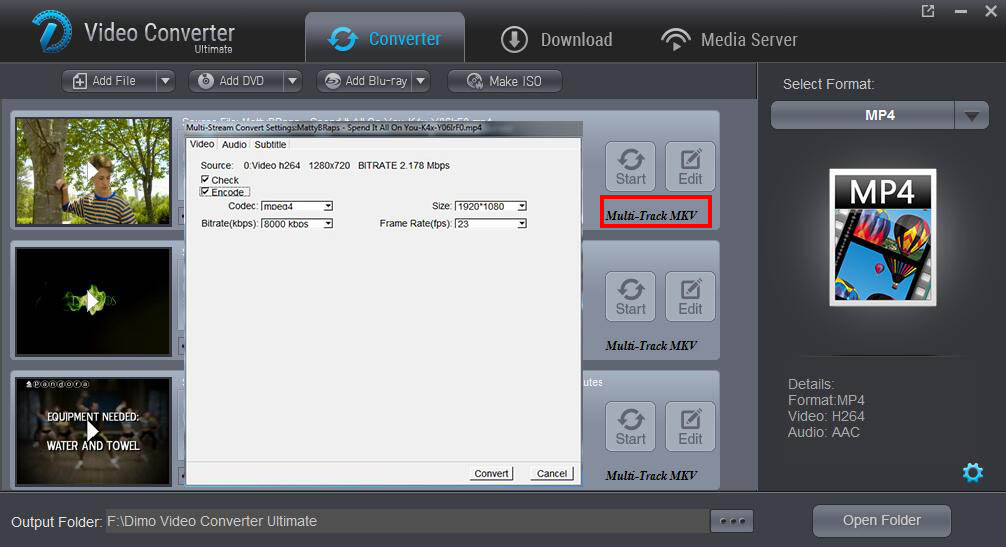 upgrade Dimo to version 3.0.1 with custom subtitles