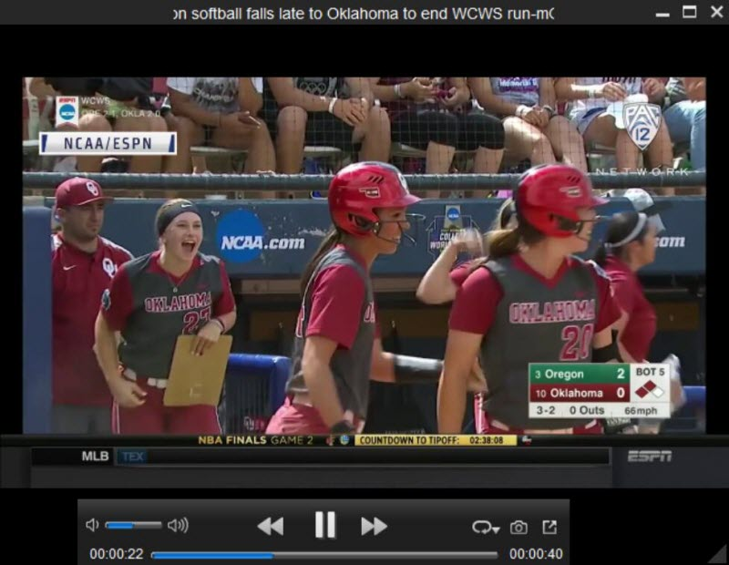 play NCAA softball video