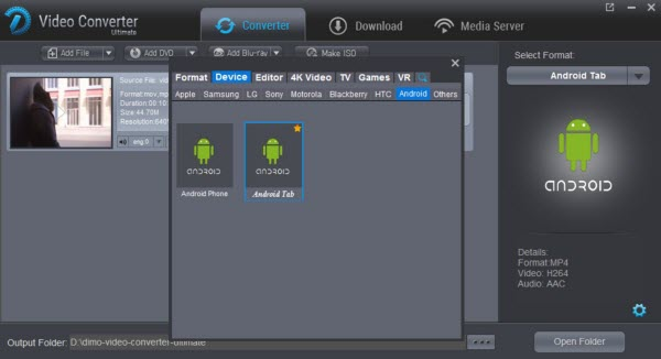 choose android tablets supported format