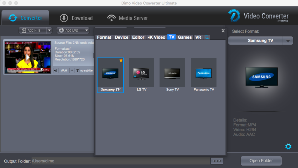 Mac TV video converter