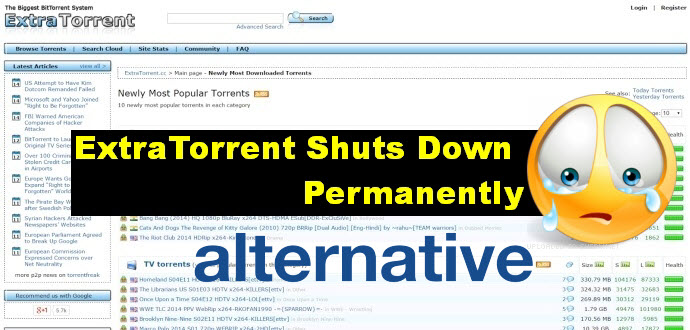 Fix ExtraTorrent Shut Down Problem