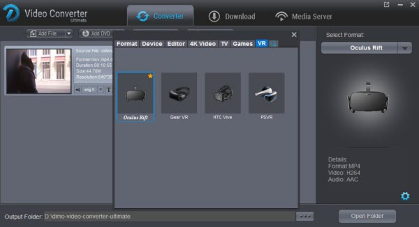 3D Blu-ray Ripper for Oculus VR