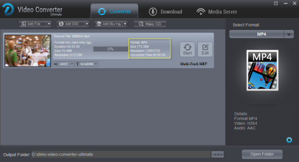 output video size