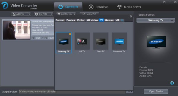 Samsung TV supported video format