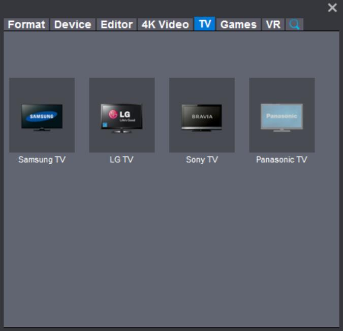widescreen TV supported format
