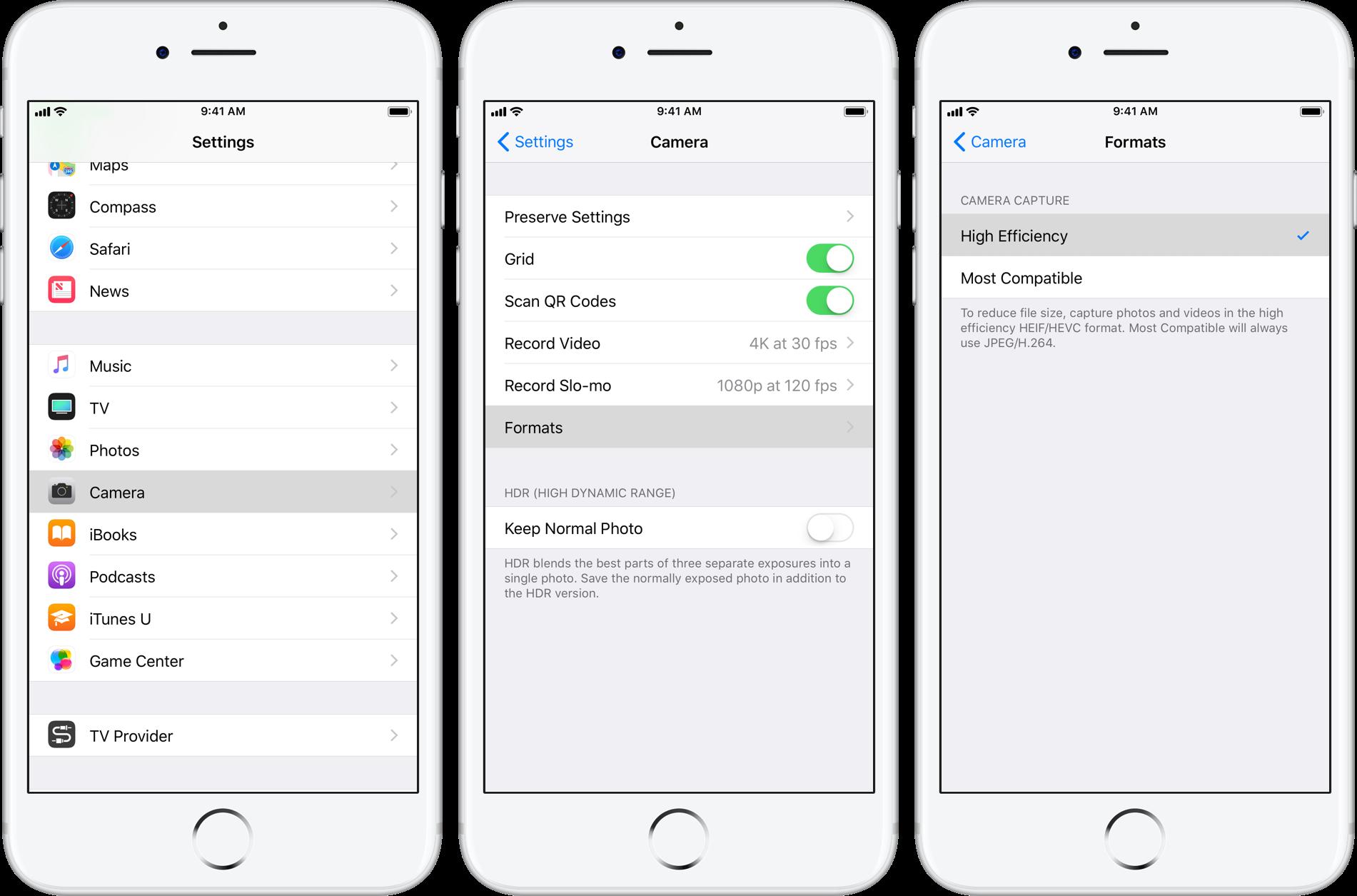 Turn Off HEIC Formatting on iOS 11