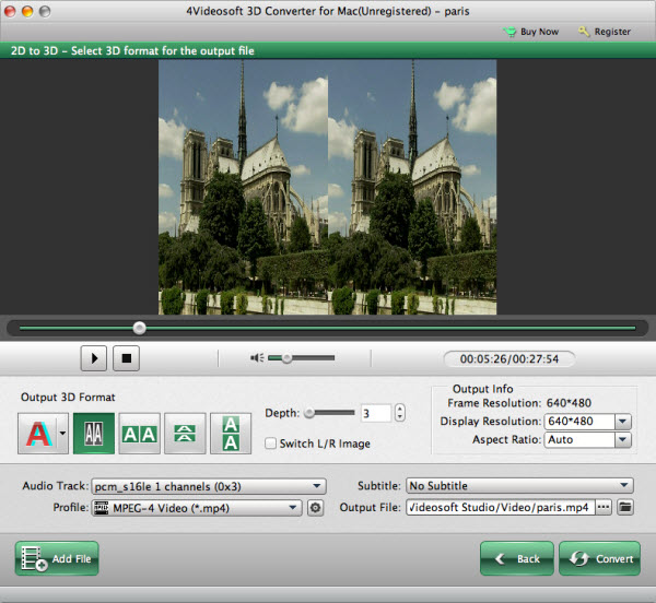 4Videosoft 3D Converter for Mac