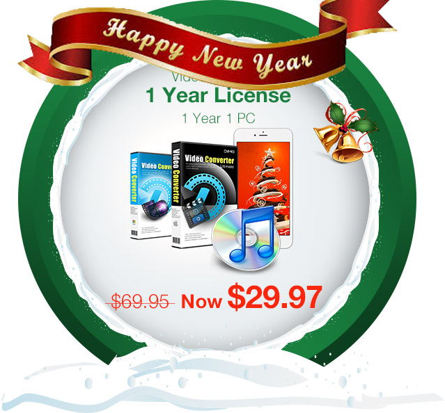 Free New Year Gift- Last Chance to seize the top video converter with Lowest Price at $29.97