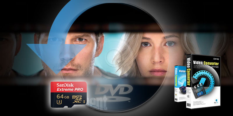 Rip and Store Passenger DVD on Memory Card for playback