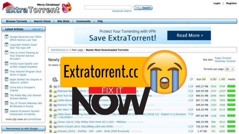 ExtraTorrent Down | Unblock ExtraTorrent.cc with ExtraTorrent Alternatives